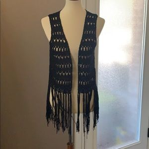 Umgee Crochet Vest Medium